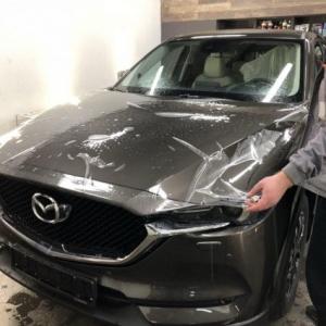 Mazda CX-5, защита кузова антигравийной пленкой