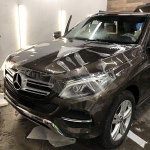 Mercedes-Benz GLE, защита кузова антигравийной пленкой