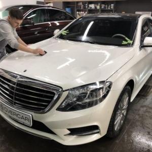 Mercedes-Benz S-klasse (W222, AMG), защита кузова антигравийной пленкой