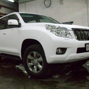 Toyota Prado, Белый мат