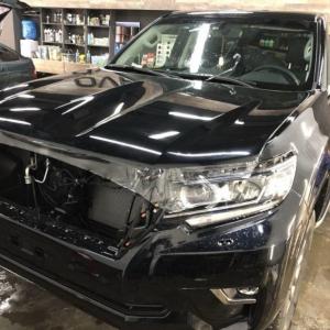 Toyota Prado, защита кузова антигравийной пленкой